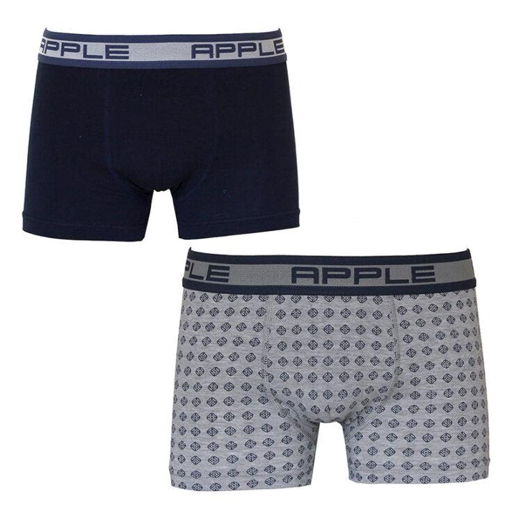 Ανδρικό boxer Apple 2 pack 0112946-Navy/Gray Mel  Πολύχρωμο