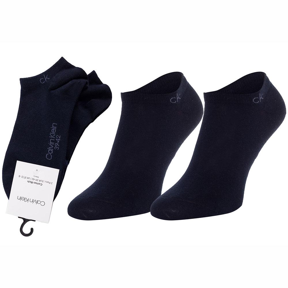 Ανδρικές Βαμβακερές Χαμηλές Κάλτσες 2pack Calvin Klein 100001932-004 Μπλε Σκούρο