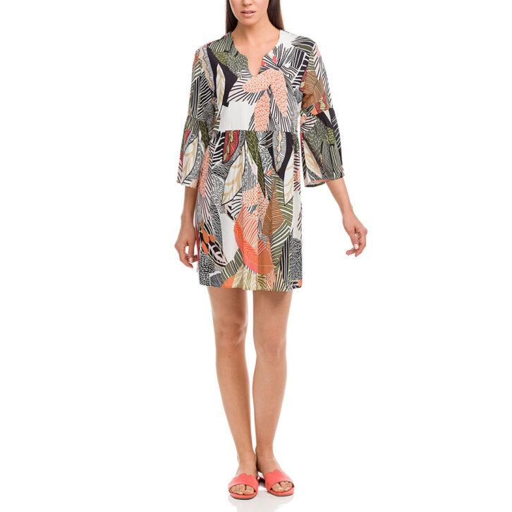 Γυναικείο Floral Φόρεμα Θαλάσσης Vamp 12530 Πολύχρωμο