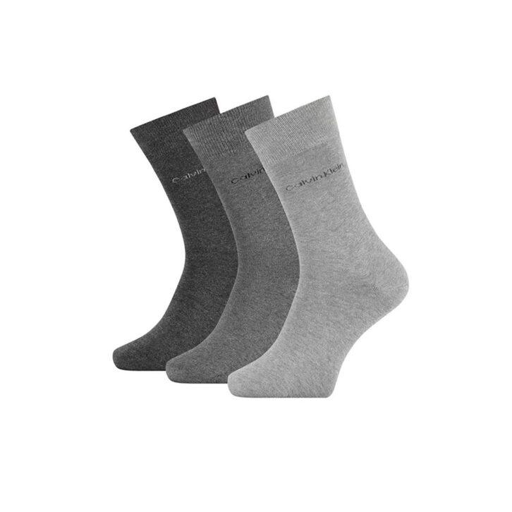 Ανδρικές Βαμβακερές Κάλτσες Calvin Klein 3pack 100001752-004 Γκρι