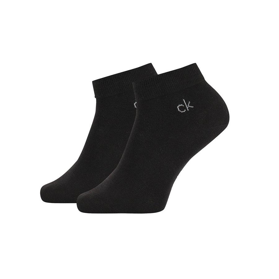 Ανδρικές Βαμβακερές Ημίκοντες Κάλτσες Calvin Klein 2pack 100001872-001 Μαύρο