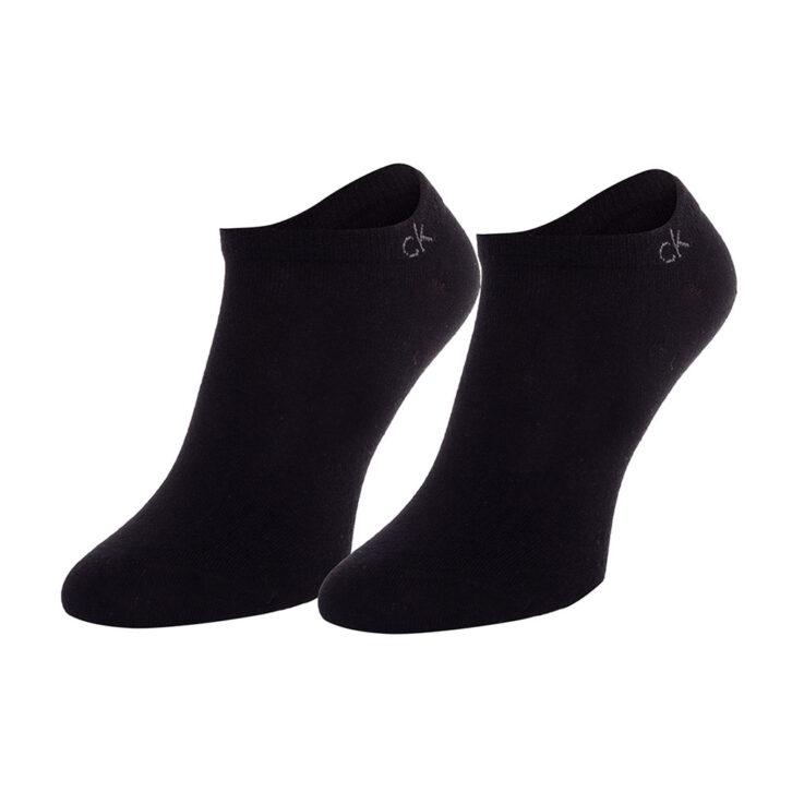 Ανδρικές Βαμβακερές Χαμηλές Κάλτσες 2pack Calvin Klein 100001932-001 Μαύρο