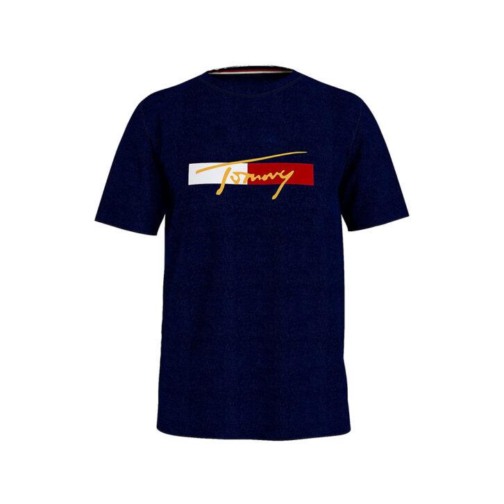 Ανδρικό Βαμβακερό T-Shirt Tommy Hilfiger UM0UM02115-DW5 Μπλε Σκούρο