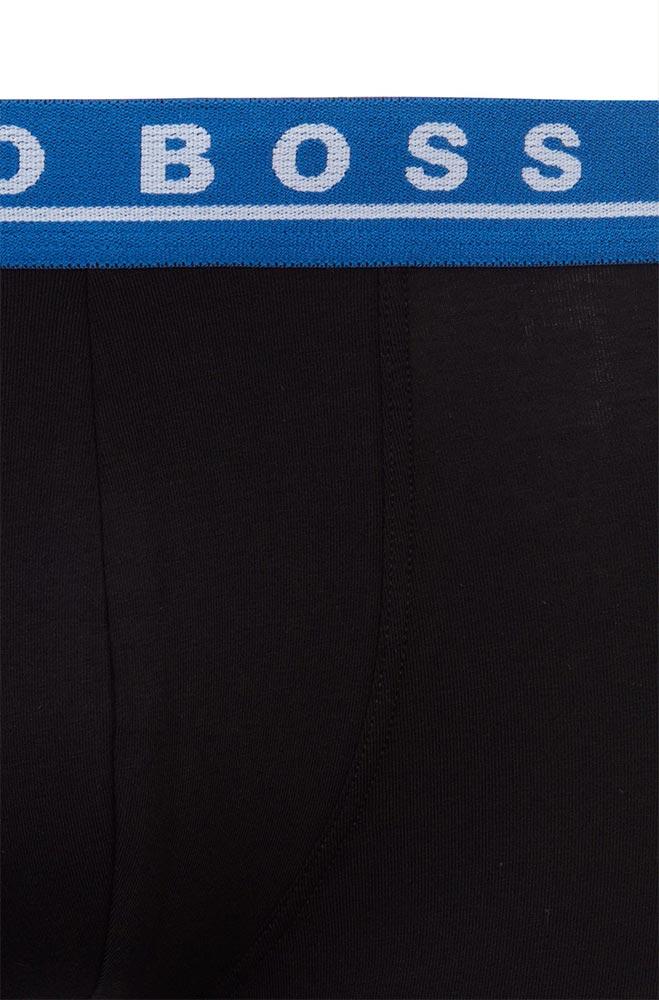 Ανδρικά Boxer 3pack Cotton Stretch BOSS 50449457-03 Μαύρο