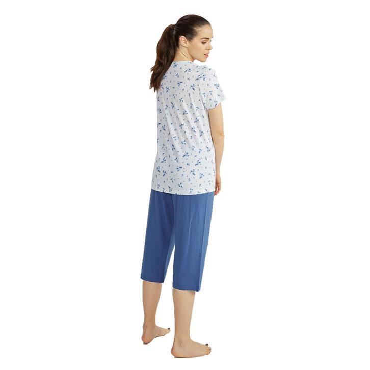 Γυναικεία Καλοκαιρινή Πυτζάμα με Κάπρι Παντελόνι Vamp 00-10-6716 Πολύχρωμο