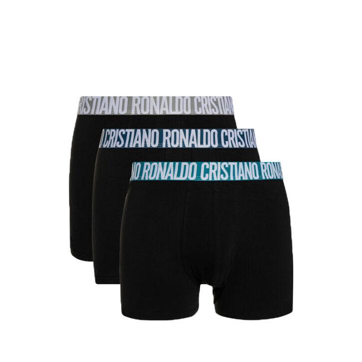 Ανδρικά Boxer CR7 Cotton Stretch 3pack 8100-49-672 Μαύρο
