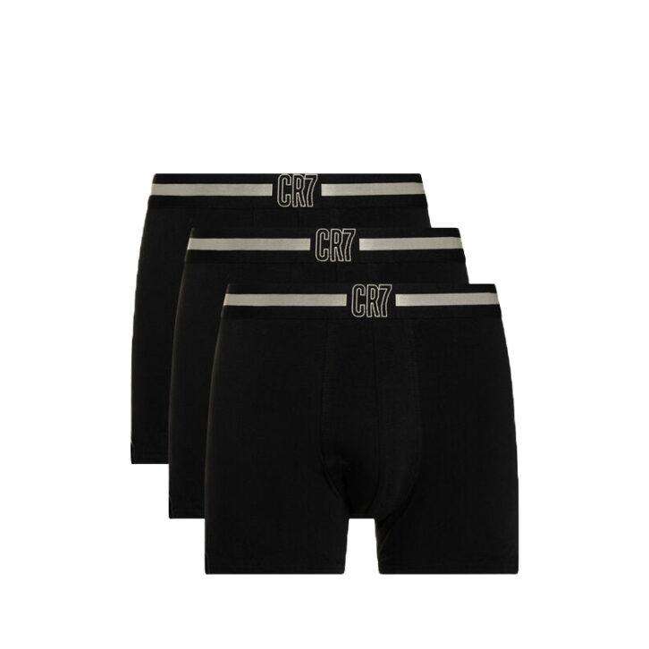 Ανδρικά Boxer CR7 Cotton Stretch 3pack 8100-49-679 Μαύρο