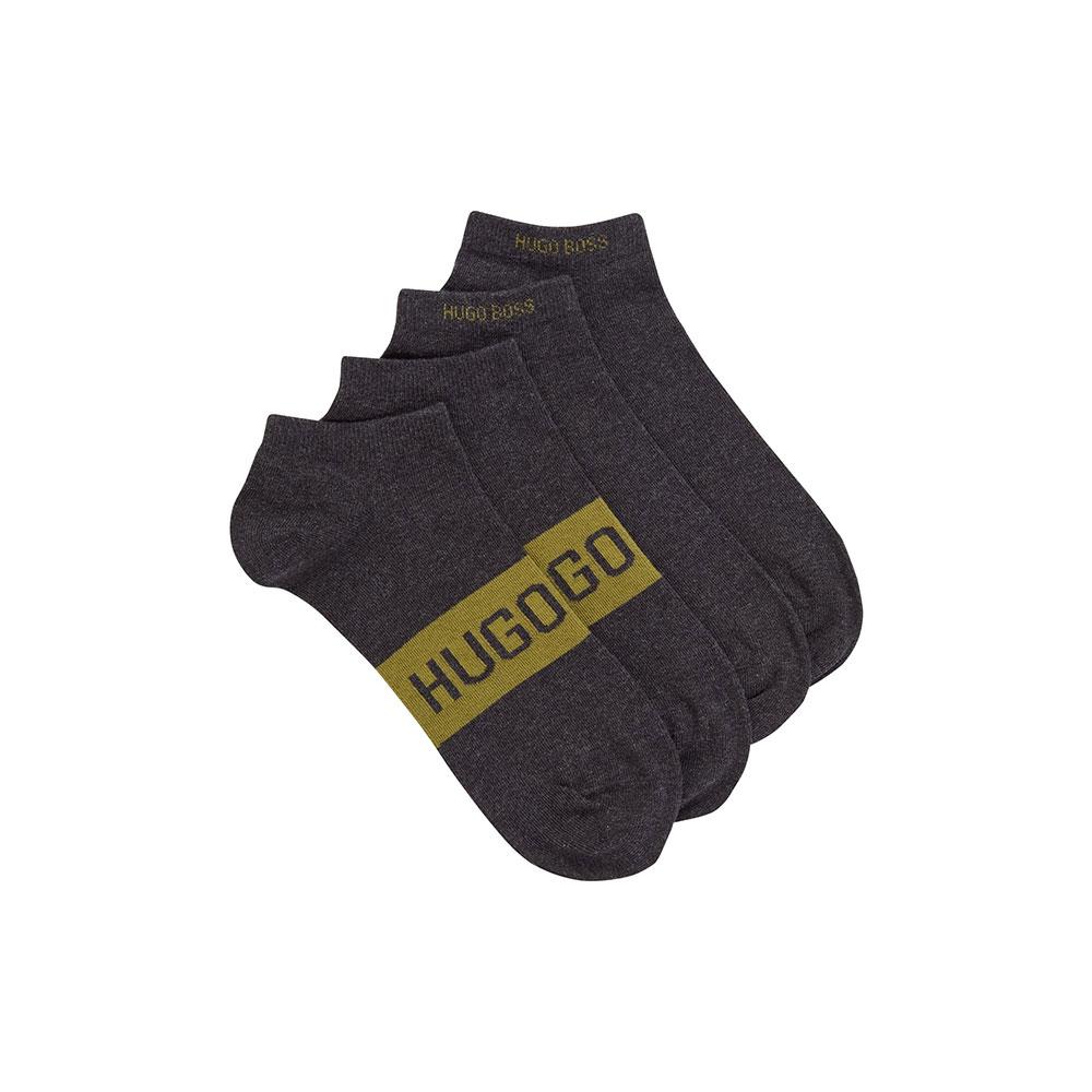 Ανδρικές Βαμβακερές Χαμηλές Κάλτσες HUGO BOSS 2pack 50428744-032 Γκρι