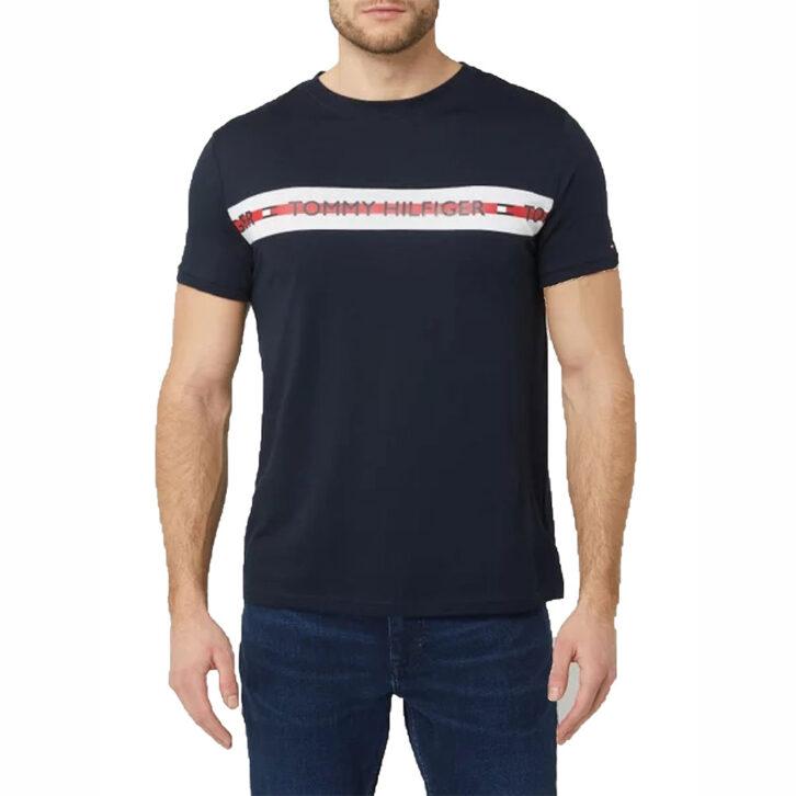 Ανδρικό T-Shirt Tommy Hilfiger UM0UM01915-DWE Μπλε Σκούρο