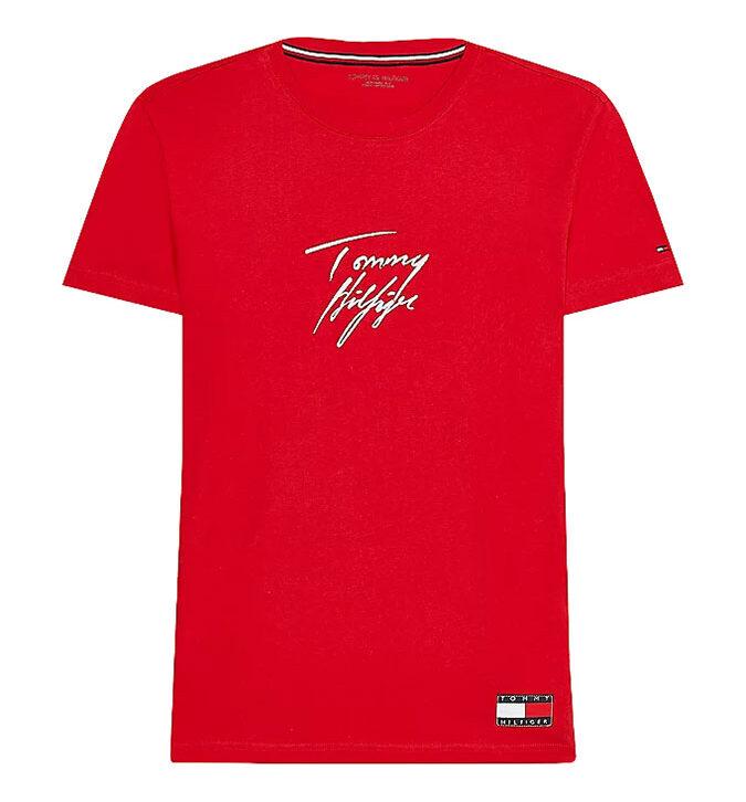 Ανδρικό Βαμβακερό T-Shirt Tommy Hilfiger UM0UM01787-XLG Κόκκινο