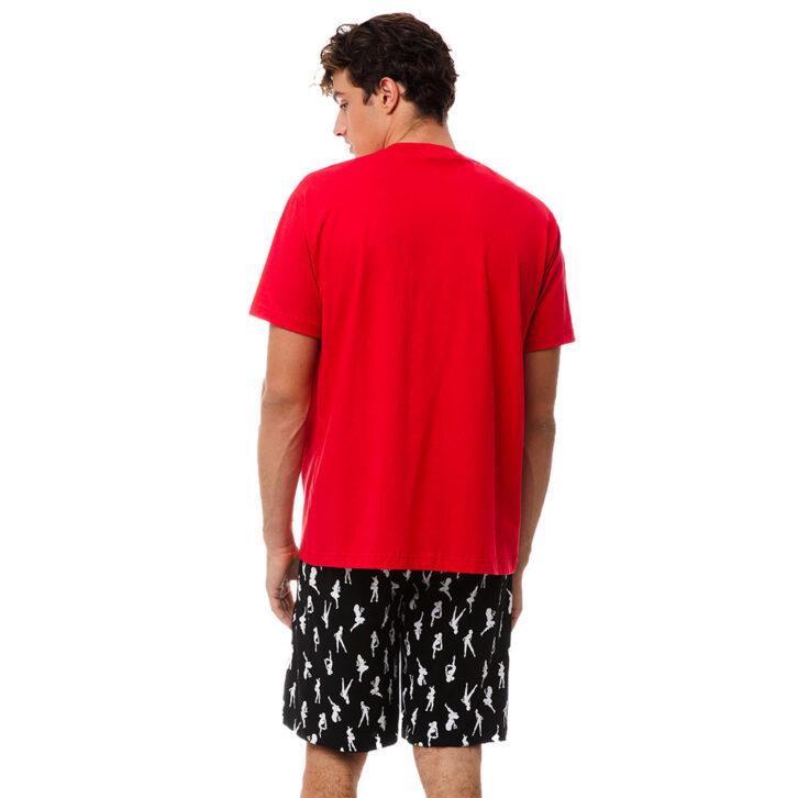 Ανδρική Κοντομάνικη Πυτζάμα Lucky Minerva 70905-118 Κόκκινο