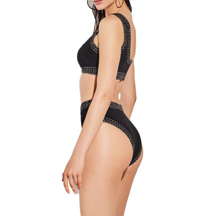 Γυναικείο Bikini Top με Έναν Ώμο Lida 9-1485 Μαύρο