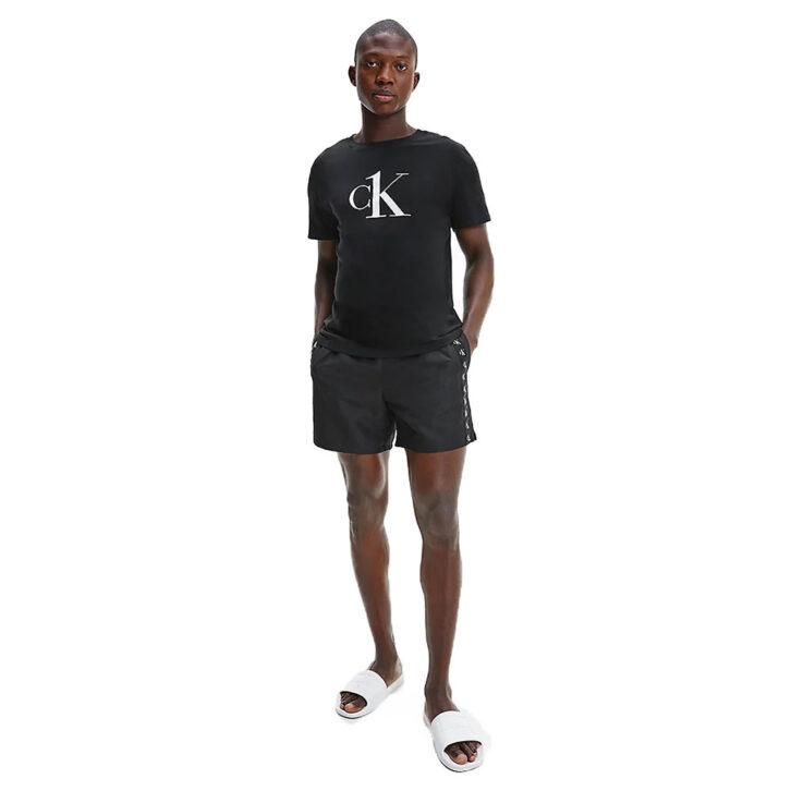Ανδρικό T-shirt Παραλίας Calvin Klein KM0KM00646-BEH Μαύρο