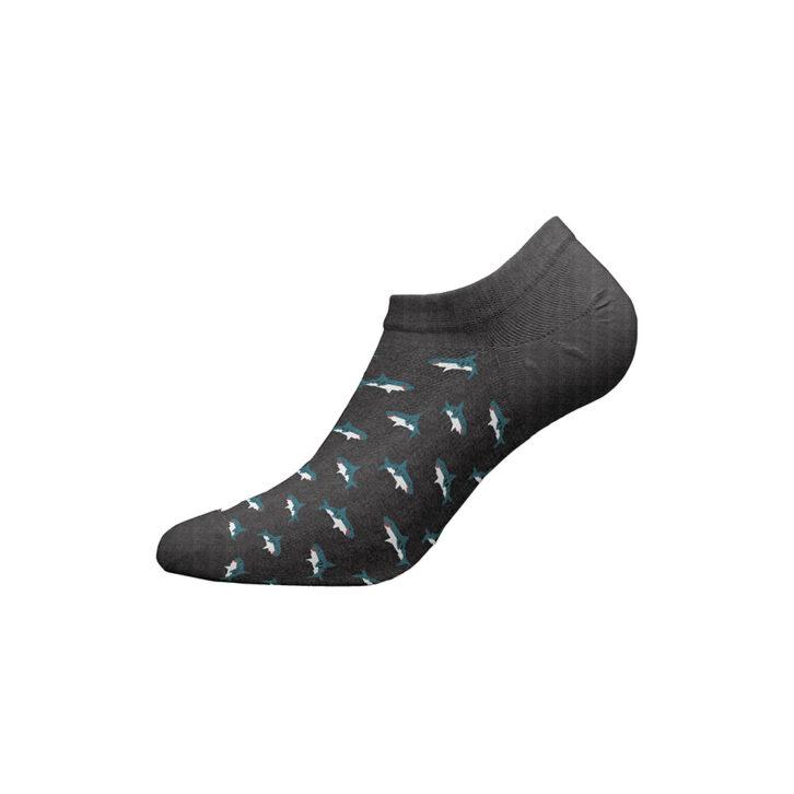 Ανδρικές Χαμηλές Κάλτσες Walk Bamboo W325-3-10 Γκρι Σκούρο