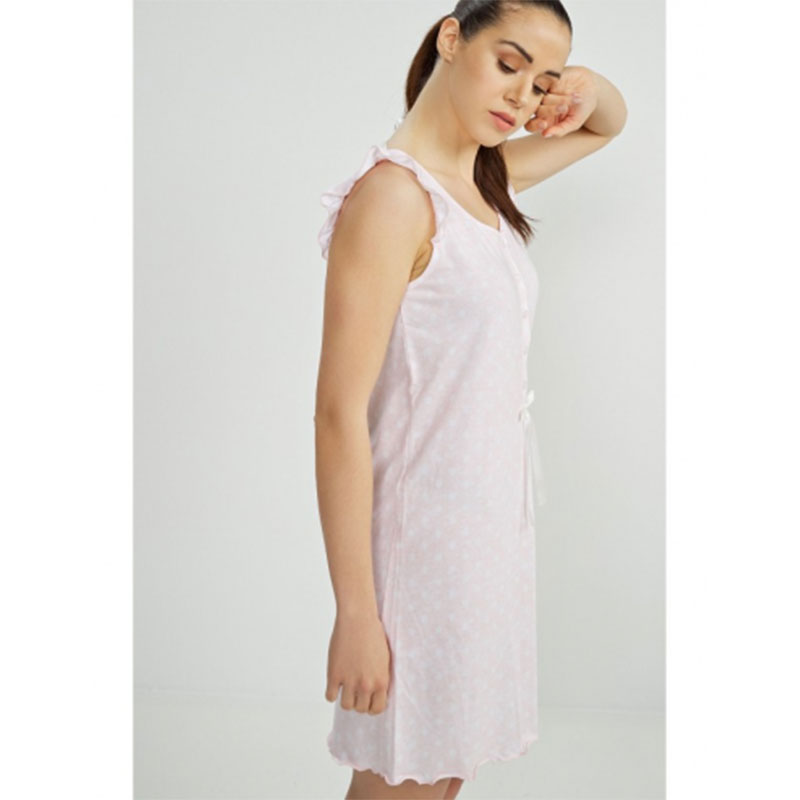 Γυναικείο Νυχτικό Vamp 00-10-6780 Ροζ