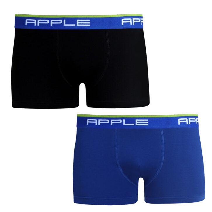 Ανδρικό Boxer Apple 2pack 0112934_black-blue Μαύρο-Μπλε Ρουά