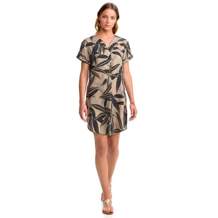 Γυναικείο Εμπριμέ Φόρεμα Θαλάσσης Vamp 14410 Πολύχρωμο
