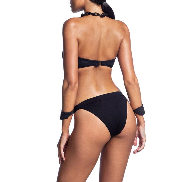 Γυναικείο Strapless Bikini Top με Υφή Δέρματος Bluepoint 2106651-1-02 Μαύρο