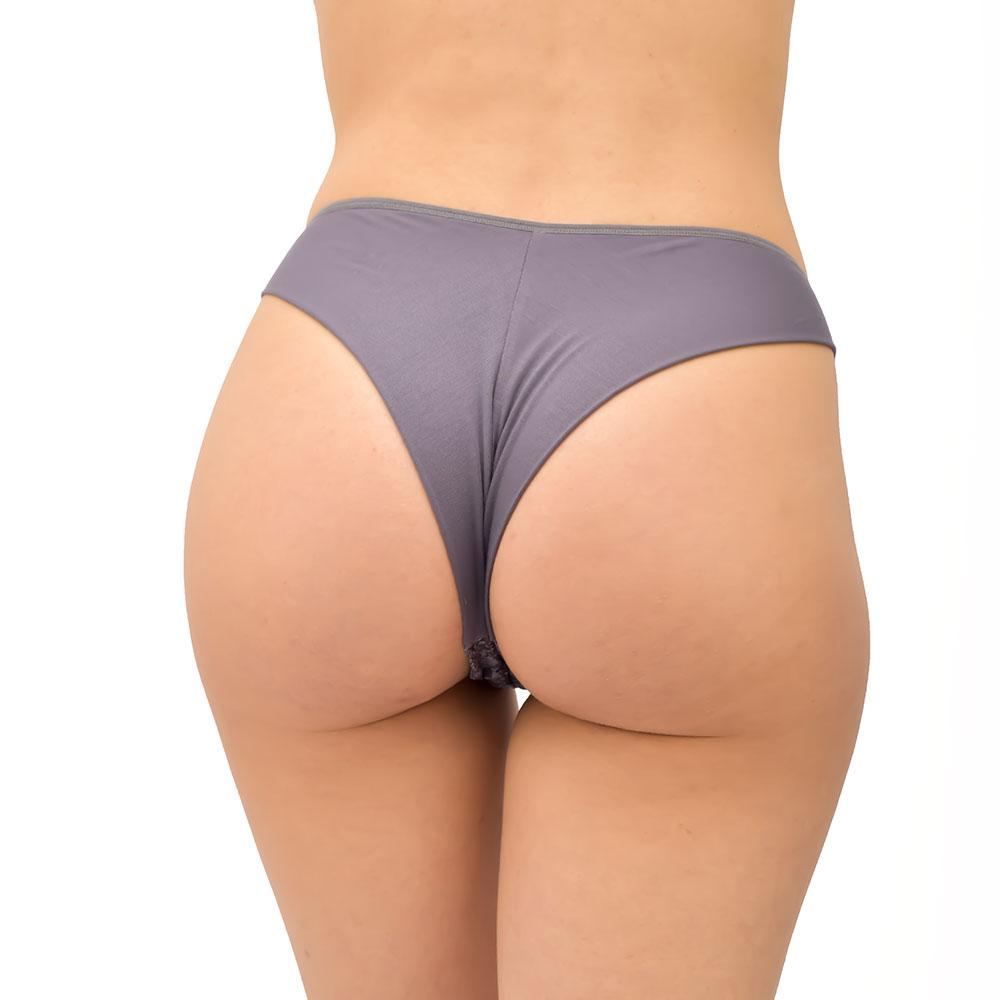 Γυναικείο Slip Brazil με Δαντέλα FrouFrou 3012m_grey Γκρι