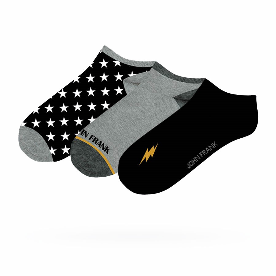 Ανδρικές Χαμηλές Κάλτσες John Frank 3pack JF3SS20S17 Πολύχρωμο