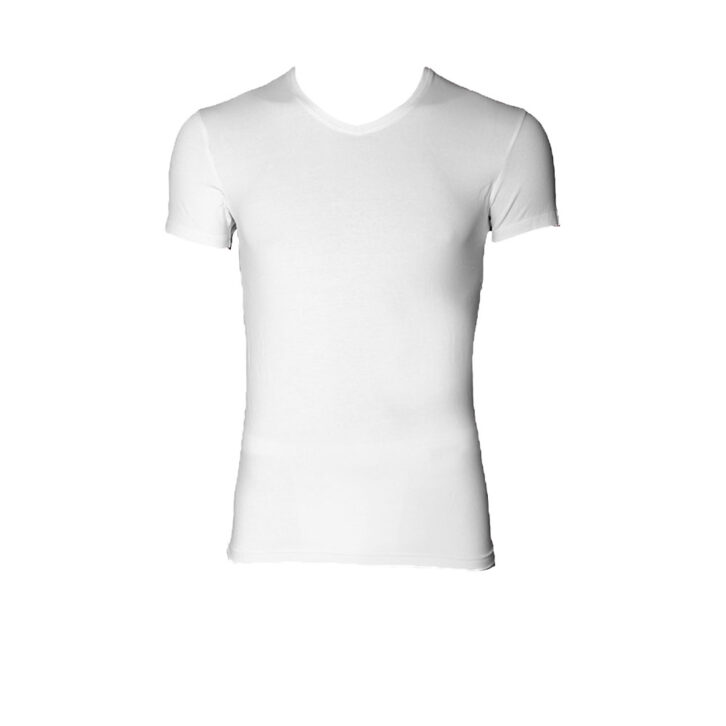 Ανδρική Φανέλα V Κοντό Μανίκι Kybbus  KB730_white Λευκό
