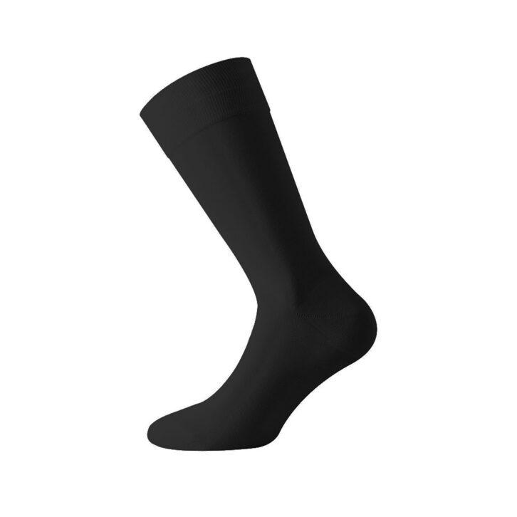 Ανδρικές Μερσεριζέ Βαμβακερές Κάλτσες Walk W107-02 Μαύρο