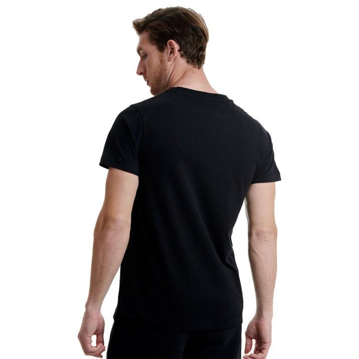Ανδρικό T-Shirt με Τύπωμα Walk W5200-5-02 Μαύρο