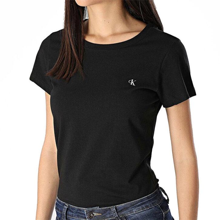 Γυναικείο Calvin Klein T-Shirt 2pack 000QS6442E-001 Μαύρο