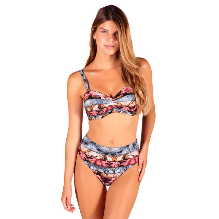 Γυναικείο Ψηλόμεσο Bikini Slip Miss Crool 20C1-Z23-285 Πολύχρωμο