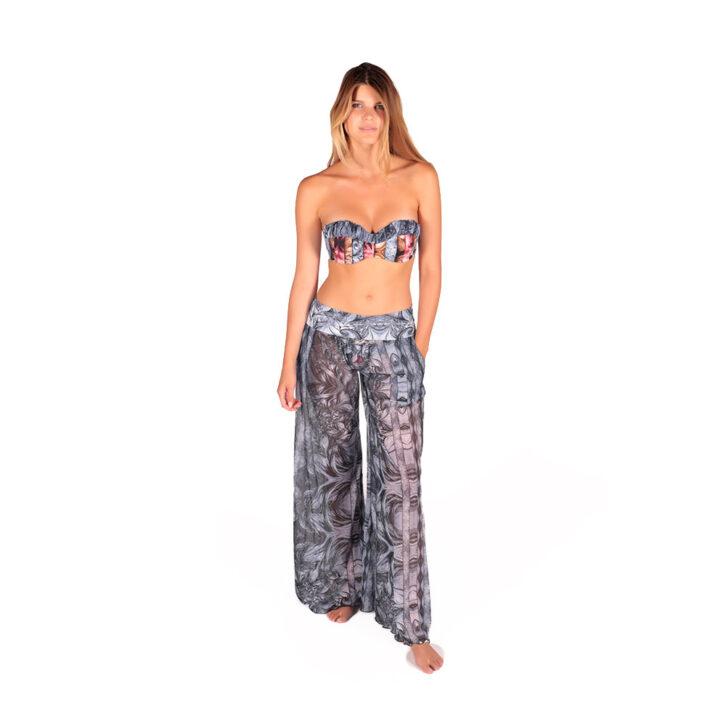 Γυναικεία Παντελόνα Θαλάσσης Miss Crool 20C3-Z23-3911 Πολύχρωμο