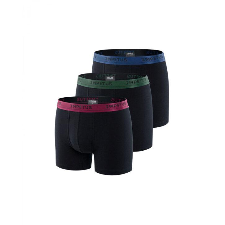 Ανδρικό Boxer Cotton Stretch 3-pack Impetus 1224H54P3-020 Μαύρο