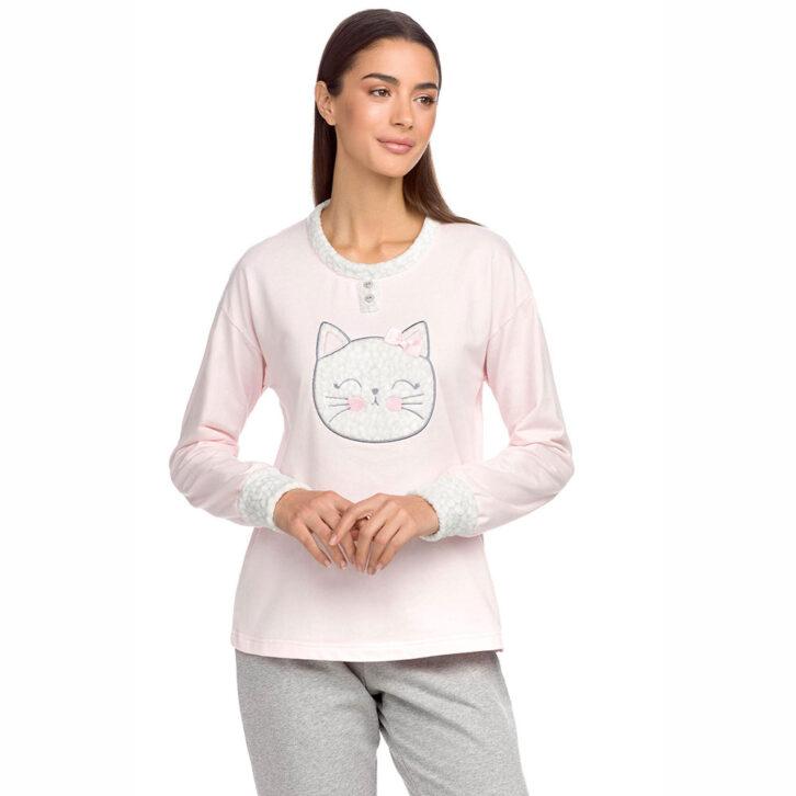 Γυναικεία Πυτζάμα Vamp 15236 Ροζ