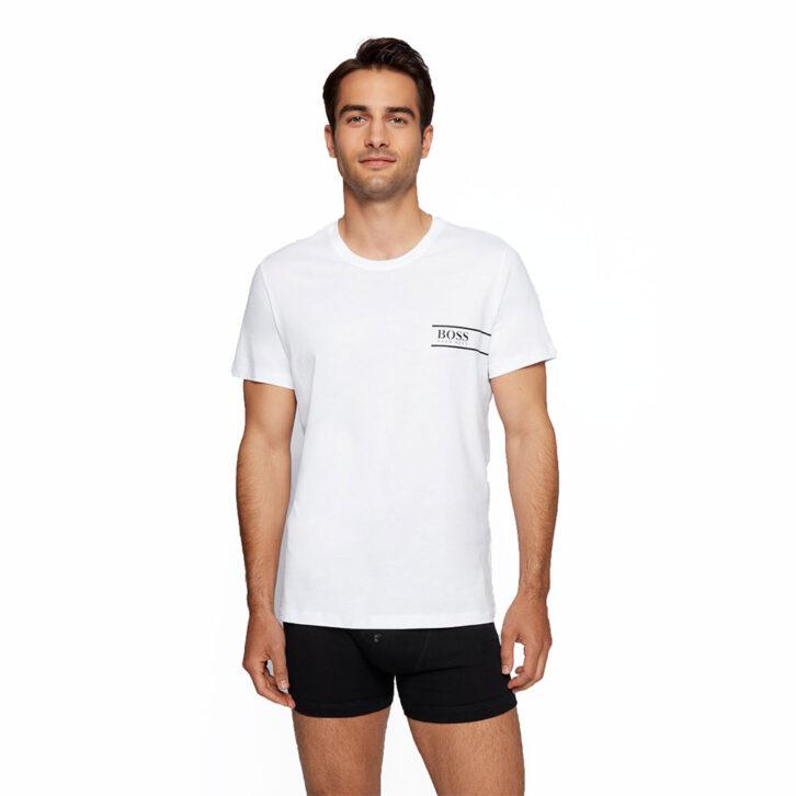 Ανδρικό Βαμβακερό T-Shirt BOSS 50426319-100 Λευκό