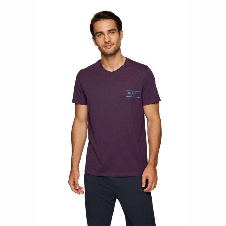 Ανδρικό Βαμβακερό T-Shirt HUGO BOSS 50426319-501 Μωβ
