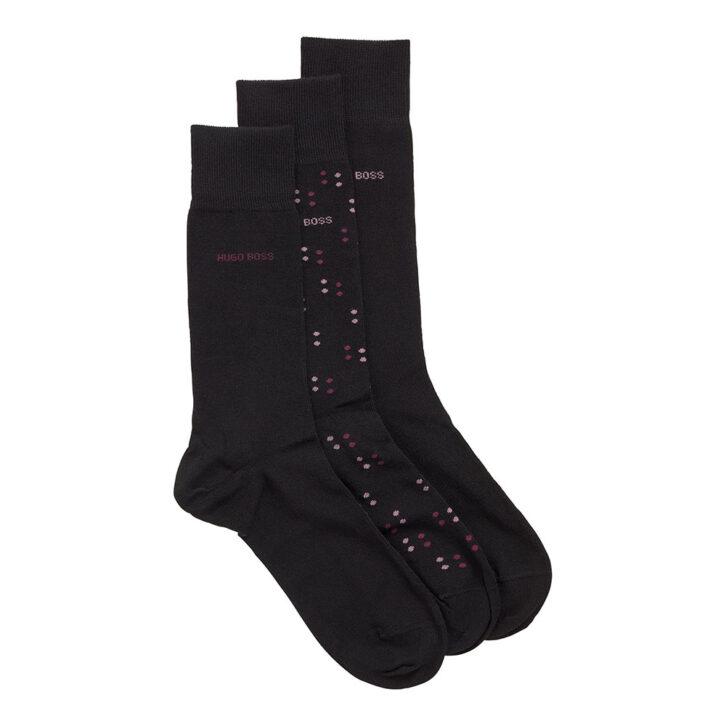 Ανδρικές Βαμβακερές Κάλτσες 3-pack HUGO BOSS 50457784-001 Μαύρο