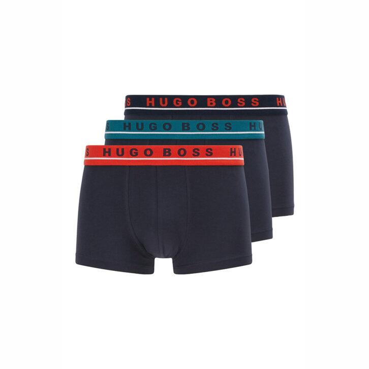 Ανδρικό Boxer Cotton Stretch HUGO BOSS 3-pack 50458488-965 Μπλε Σκούρο