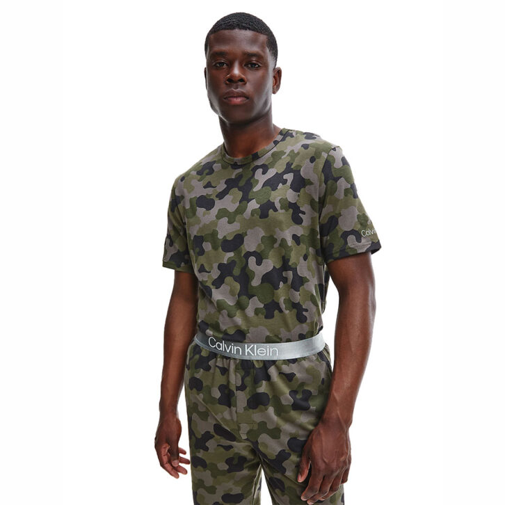 Ανδρικό Limited Edition T-Shirt Homewear Calvin Klein NM2192E-UY4 Χακί
