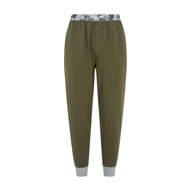Ανδρικό Limited Edition Παντελόνι Homewear Calvin Klein NM2196E-RBN Χακί