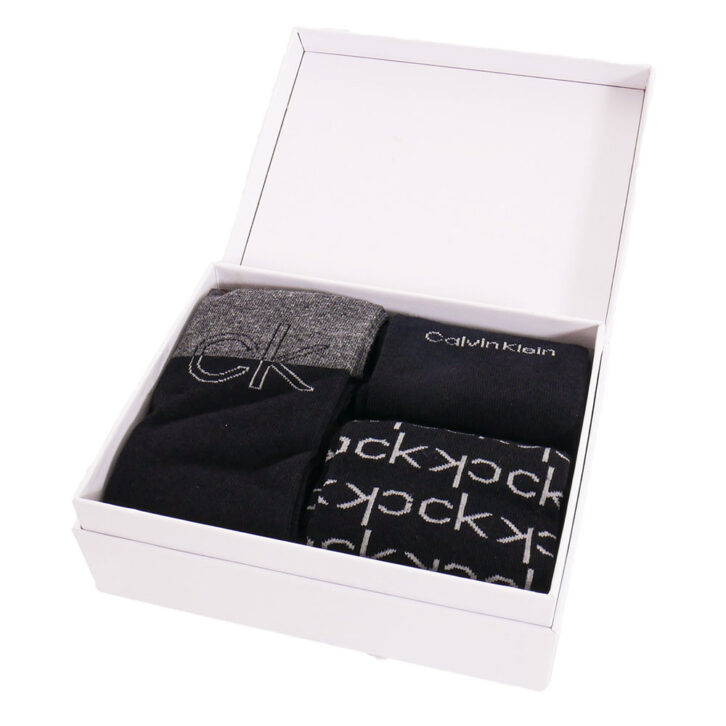 Ανδρικές Κάλτσες 3pack Giftbox Calvin Klein 100004543-001 Μαύρο