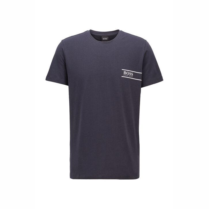 Ανδρικό Βαμβακερό T-Shirt HUGO BOSS 50426319-405 Μπλε Σκούρο
