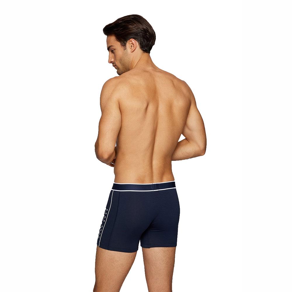 Ανδρικό Boxer Cotton Stretch HUGO BOSS 50458022-405 Μπλε Σκούρο