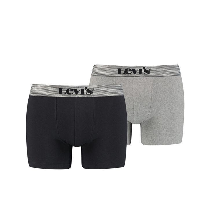 Ανδρικό Boxer Brief 2pack Levi's 701203906-003 Μαύρο Γκρι Μελανζέ