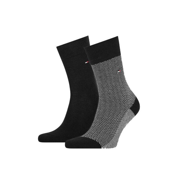 Ανδρικές Κάλτσες 2pack Tommy Hilfiger 701210534-004 Μαύρο