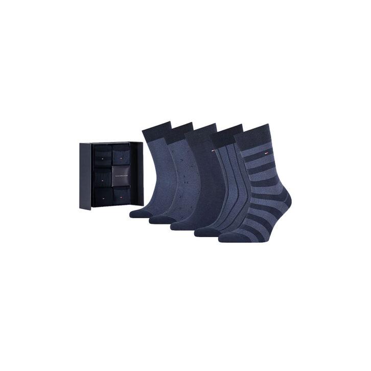 Ανδρικές Κάλτσες 5pack Gift Box BIRD'S EYE Tommy Hilfiger 701210549-001 Μπλε Σκούρο
