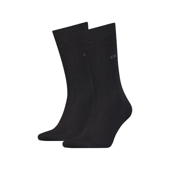 Ανδρικές Βαμβακερές Κάλτσες 2pack Calvin Klein 701218631-001 Μαύρο