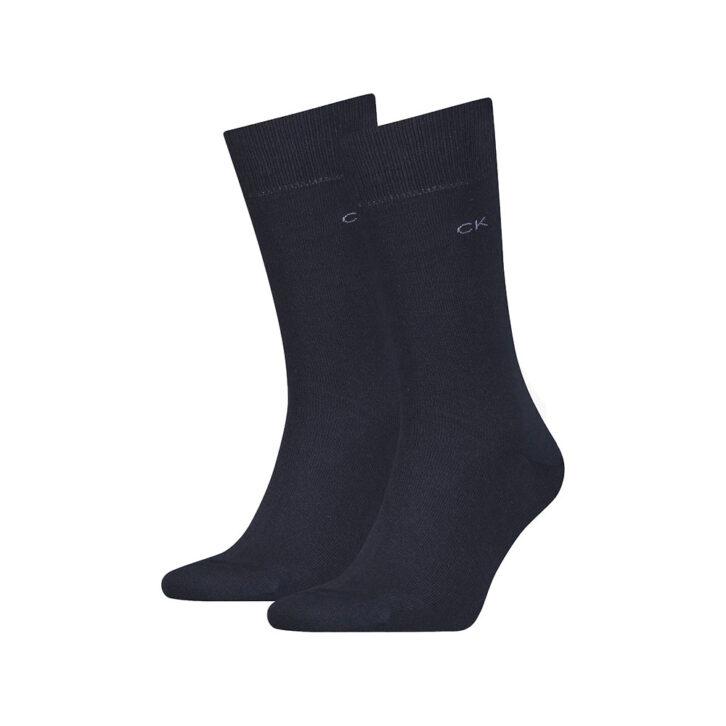 Ανδρικές Βαμβακερές Κάλτσες 2pack Calvin Klein 701218631-003 Μπλε Σκούρο