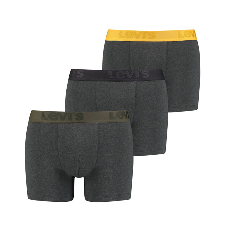 Ανδρικό Boxer Brief 3pack Levi's 905045001-014 Ανθρακί