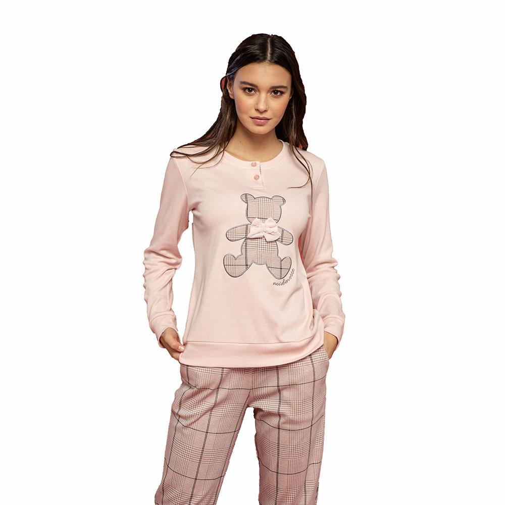 Γυναικεία Πυτζάμα Noidinotte FA7474PB Ροζ