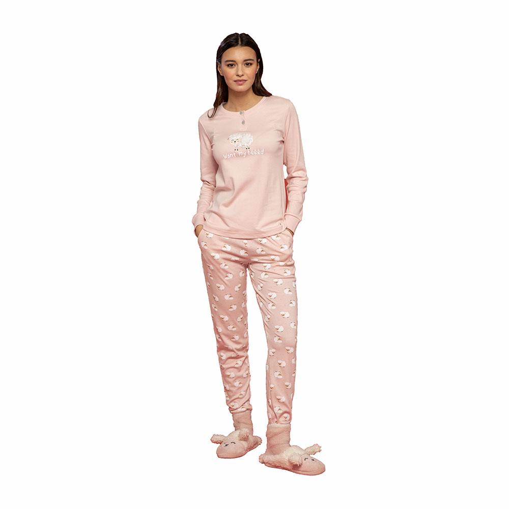 Γυναικεία Πυτζάμα Noidinotte FA7476PB Ροζ