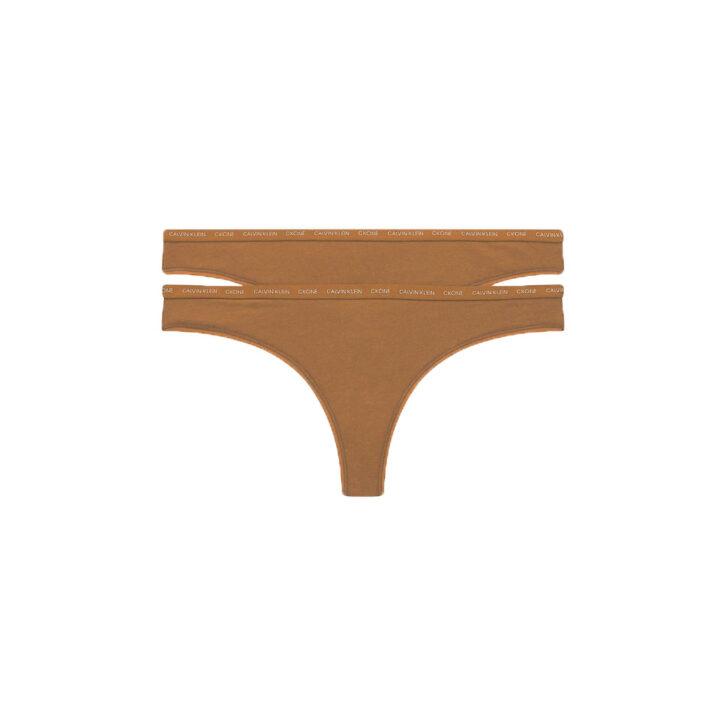 Γυναικείο String 2Pack Calvin Klein 000QD3788E-W5K Sandalwood